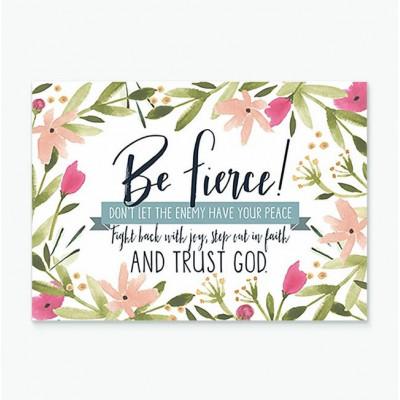 Be Fierce Greetings Card A6