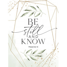 Be Still And Know Wooden Magnet