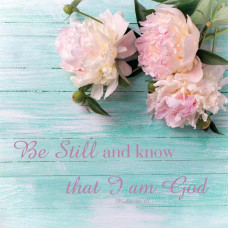 Be Still And Know Printed Plaque