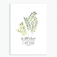Be Still And Know Fern Greetings Card