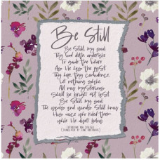 Be Still Floral Greetings Card