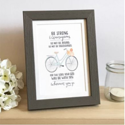 Framed Print  Be Strong (Bicycle)