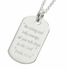 Be Strong Silver Pendant