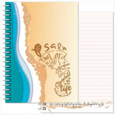 Psalm 27 Beach Footprint Notebook A5
