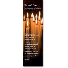 Bible Bookmark Lord's Prayer Candles