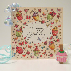 Happy Birthday Card Cupcakes