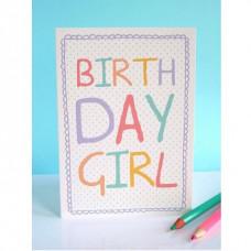 Birthday Girl Greetings Card