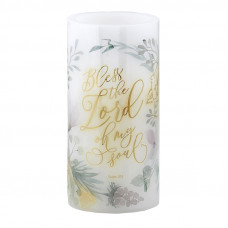 Damaged Bless The Lord LED Candle