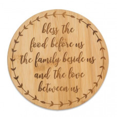 Bamboo Bless The Food Trivet