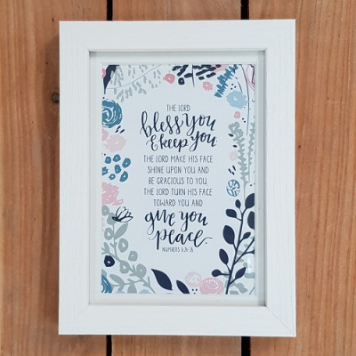 Framed Print The Lord Bless You And Keep You