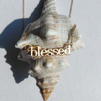 Blessed Gold Effect Necklace
