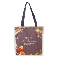 Blessed Is She Who Believes Tote Bag
