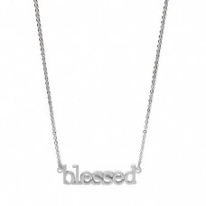 Blessed Silver Effect Necklace