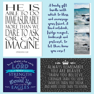 Christian Gift Package to Bless And Encourage Blue