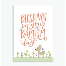 Blessings On Your Baptism Child's Greetings Card