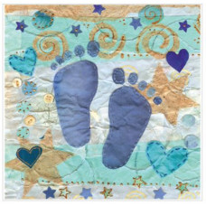 Blue Baby Feet Small Card