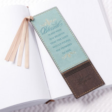 Blessed is She Lux Leather Bookmark