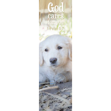 Bible Bookmark God Cares For You Puppy