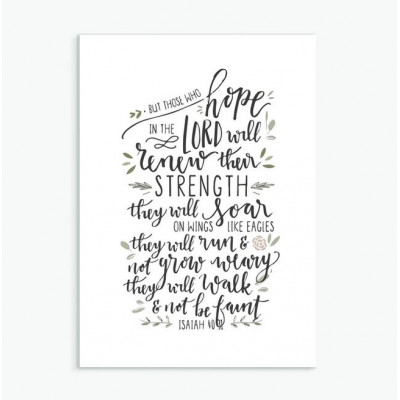 But Those Who Hope Inspirational Print