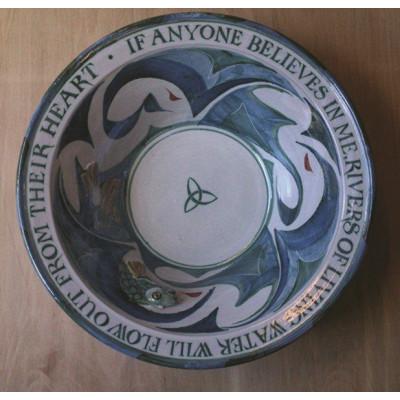 Ceramic Baptismal Font