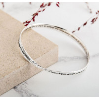 Love is Patient Sterling Silver Bangle