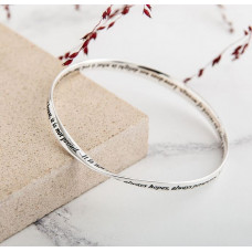 The Lord's Prayer Sterling Silver Bangle