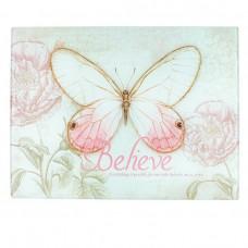 Glass Cutting Board Butterfly Believe