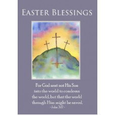 Easter Blessings Card Three Crosses