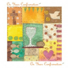 First Communion Card Yellow