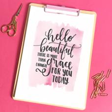 Unframed Print: Hello Beautiful