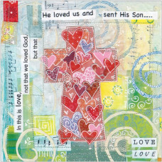 Easter Card Pack of 5 - He Loved Us