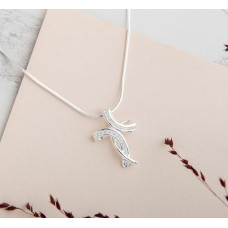 Curvy Cubic Zirconia Cross