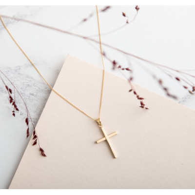 Plain Gold Cross and Chain