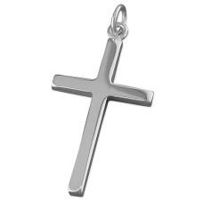 Large Plain Silver Cross Pendant