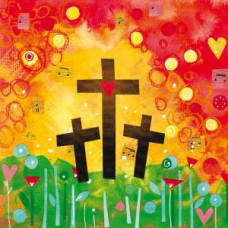 Easter Cards Pack of 5 - Three Crosses