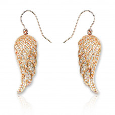 Angel Wing Earrings Rose Gold Plated