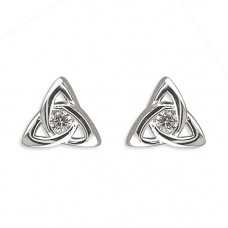 Celtic Trinity Knot Earrings with CZ