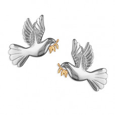 Dove With Fan Tail Earrings
