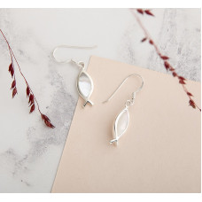 Mother Of Pearl Fish Earrings