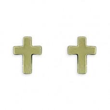 Small Gold Cross Earrings