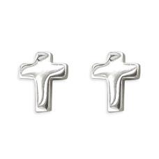 Simple Cross Stud Earrings