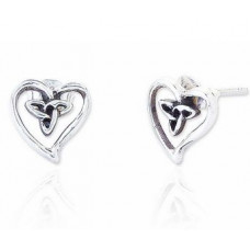 Celtic Heart with Knot Earrings