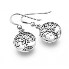 Round Celtic Tree of Life Earrings