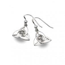 Triquetra With Swirls Drop Earrings