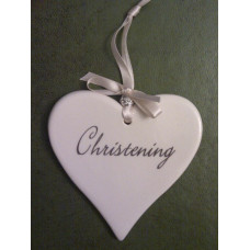 Ceramic Christening Hearts