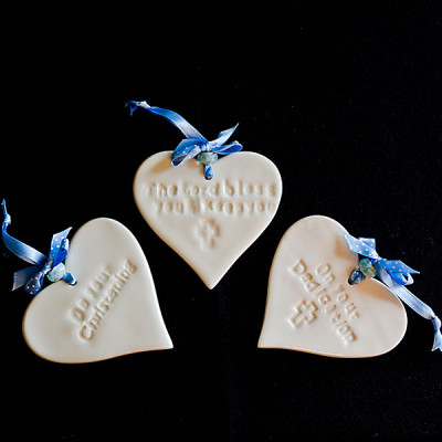 On Your Christening Ceramic Heart