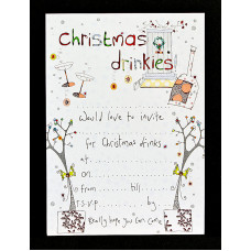 Christmas Drinkies Invitations Pack