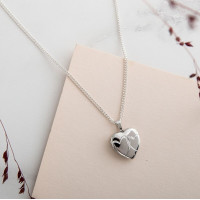 Entwined Hearts Silver Locket