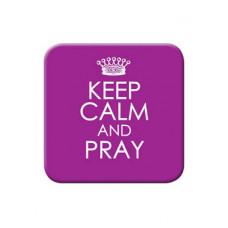 Keep Calm and Pray Fridge Magnet