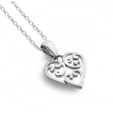 Celtic Heart with Spirals Necklace